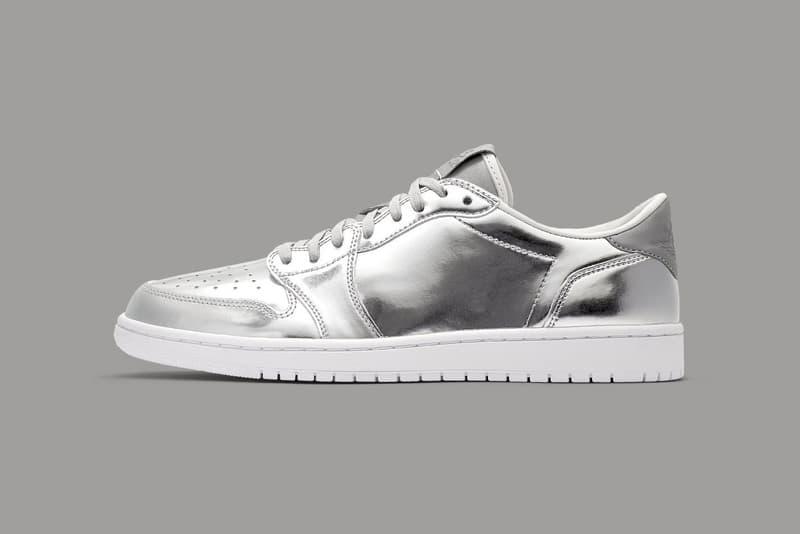 Air Jordan 1 Low No Swoosh Pinnacle Metallic Silver