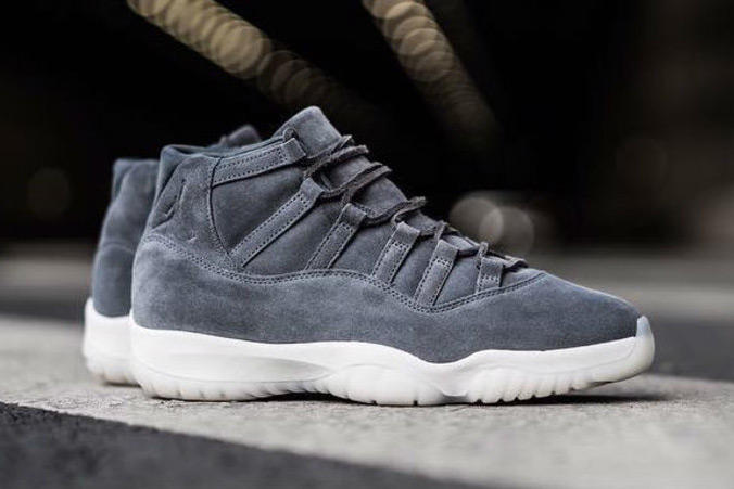 a3378aa9fa5977 Air Jordan 11 Retro PRM Grey Suede