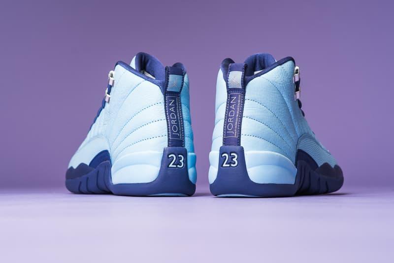 Air Jordan 12 Metallic Silver Dark Purple Sneaker