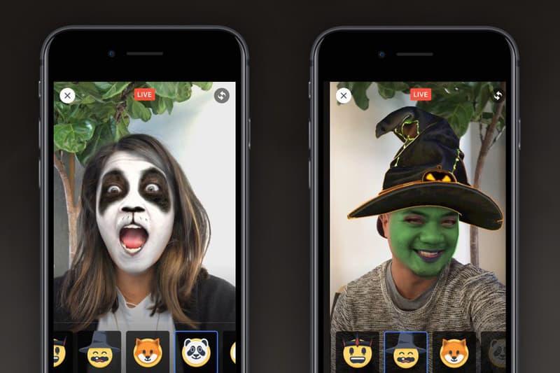 Facebook Live Halloween Filters Snapchat Videos Masks Mark Zuckerberg