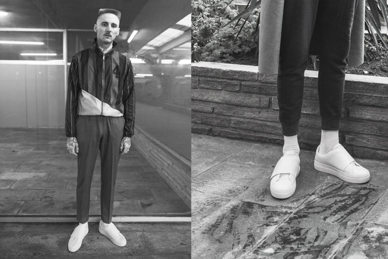 Han Kjobenhavn Local Lo Sneaker black white leather