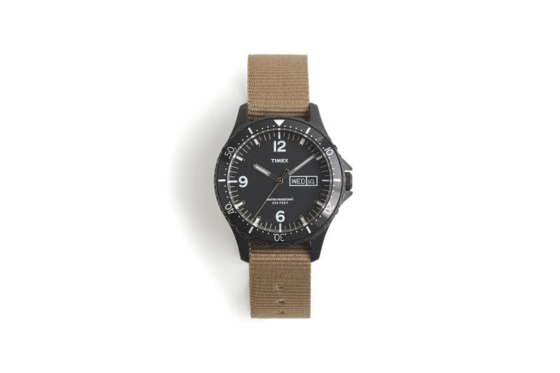 JCrew Timex Diver Watch Black Brown