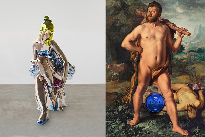 Jeff Koons Almine Rech Gallery Exhibition inaugural paintings art portraits
