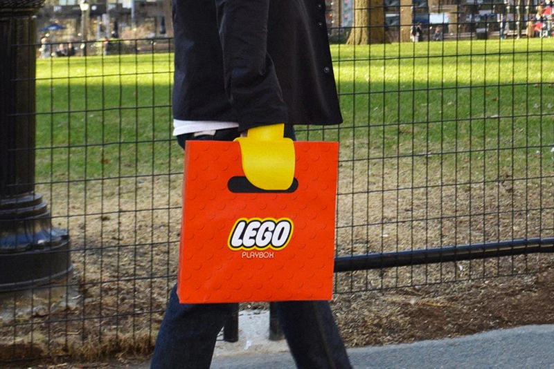 Lego Playbox Shopping Bag red yellow claws