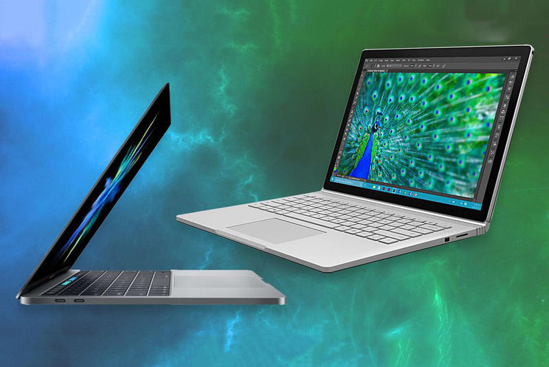 MacBook Pro vs Microsoft Surface Book i7 Specs Apple Pricing Size Weight Ports