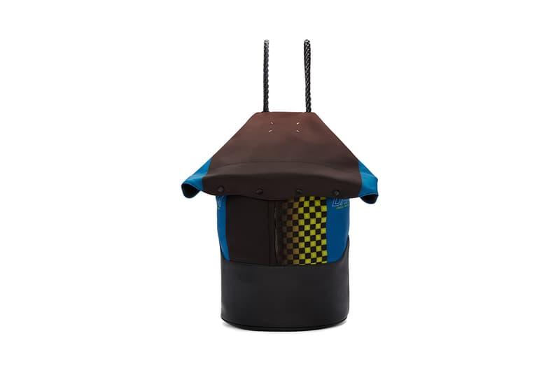 7983d802630e Fashion meets racing. Maison Margiela Multicolor Foldover Backpack brown  blue checkered flag