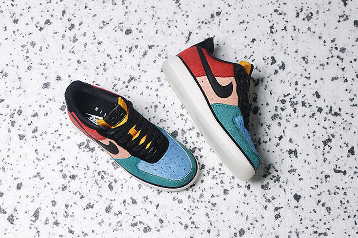 online store d6d14 e75a2 ... 616725-006 Nike Air Force 1 Low Pony Hair Pack Rainbow Black Dark  Cayenne Rio Teal White midsole ...