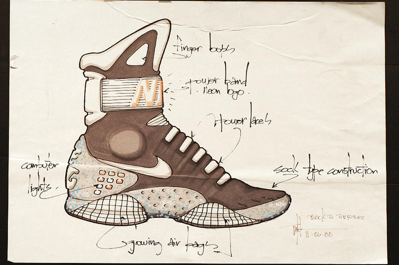 0550edcbd3108 Here Are Tinker Hatfield s Original Nike Air MAG Design Sketches. ""