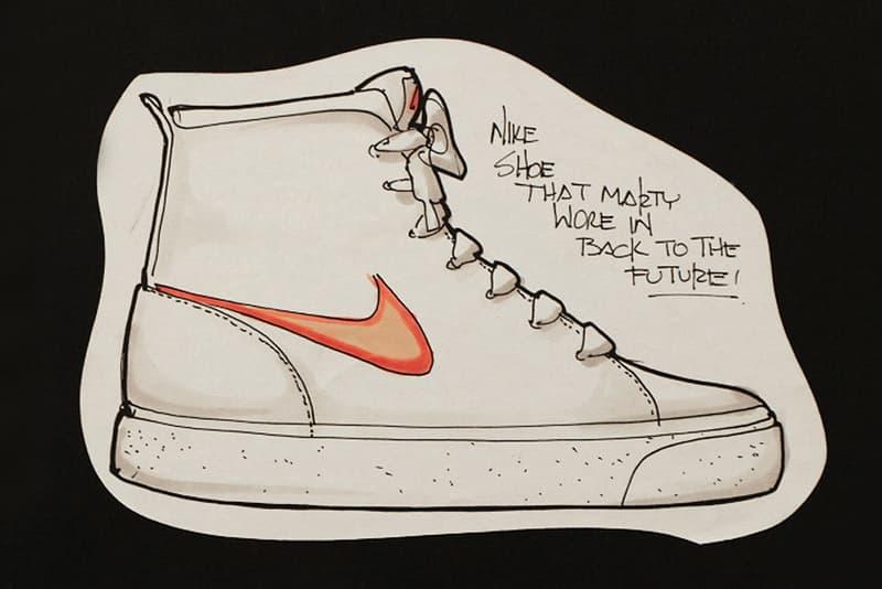 Tinker Hatfield Original Nike Air MAG Design Sketches