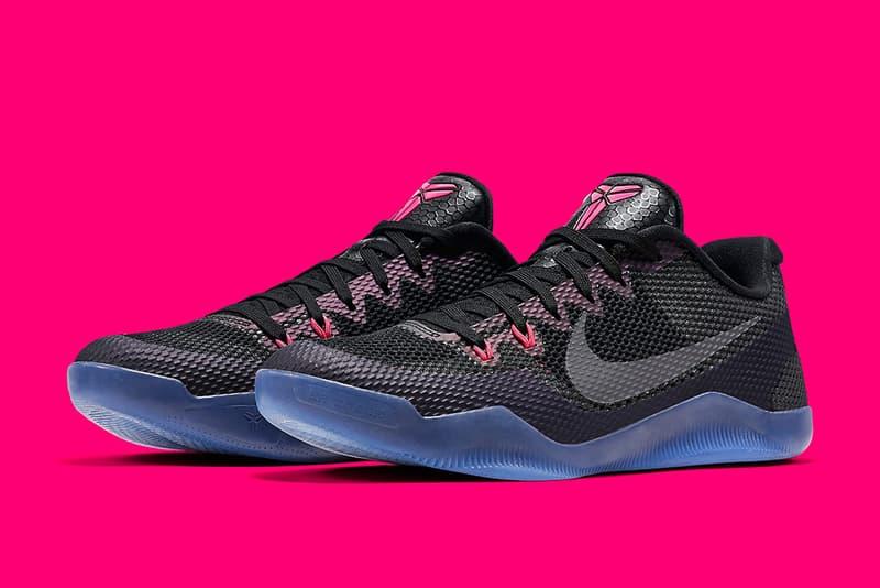 Nike Kobe 11 Invisibility Cloak Basketball Sneaker black hot pink icy blue