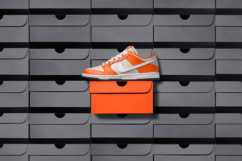 brand new 5f2f9 ee6ef Nike SB Dunk Low Premium Orange Box Closer Look Old School Orange white  colorway skateboarding white