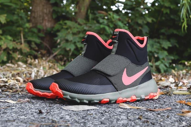 Nike SB Roshe Mid Sneaker black orange olive