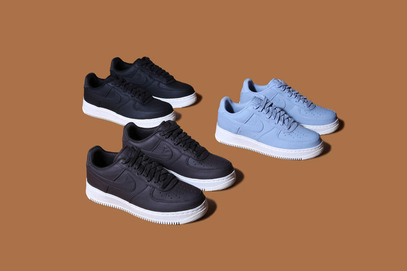 NikeLab Air Force 1 2016 Fall black brown powder blue