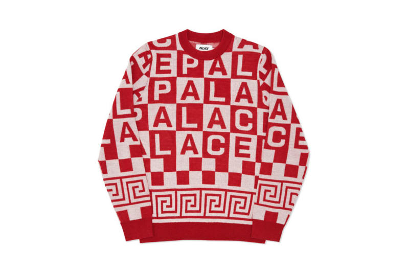 Palace 2016 Winter Collection Palace Fall black white plaid autumn streetwear skateboarding pants sweaters tri-ferg logo