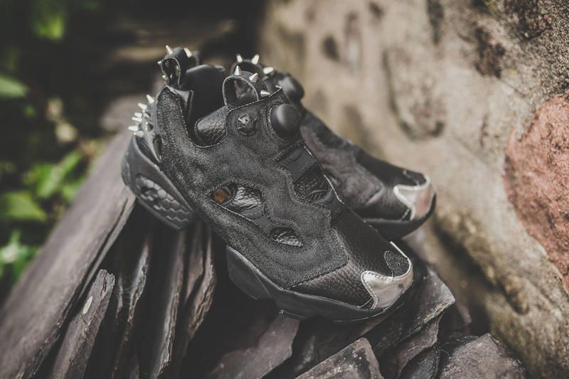 The Reebok Instapump Fury Gets Spiked out for Halloween. A very edgy  iteration of the recognizable Reebok silhouette. f1bb02472