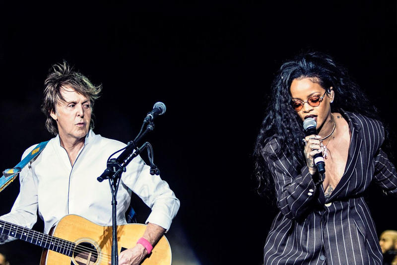 "Rihanna & Paul McCartney ""FourFiveSeconds"" Desert Trip Performance Coachella The Beatles Live Music Rock Pop"