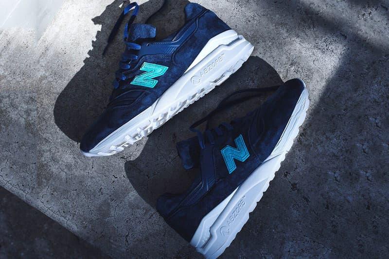 Ronnie Fieg New Balance 997.5 Archipelago blue teal white sneakers