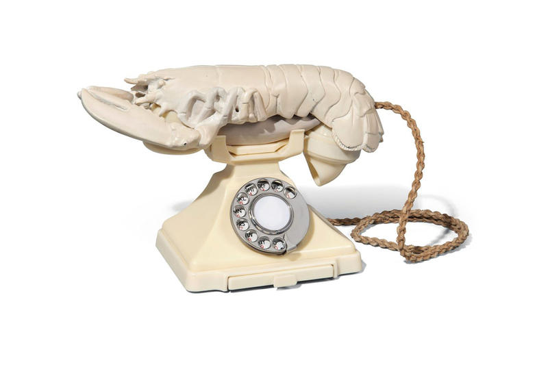 Salvador Dali Lobster Telephone and Mae West Sofa Auction