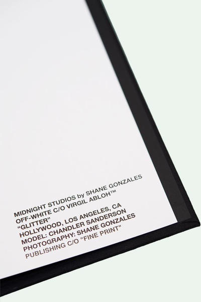 Shane Gonzales MIDNIGHT STUDIOS OFF-WHITE Photography Book
