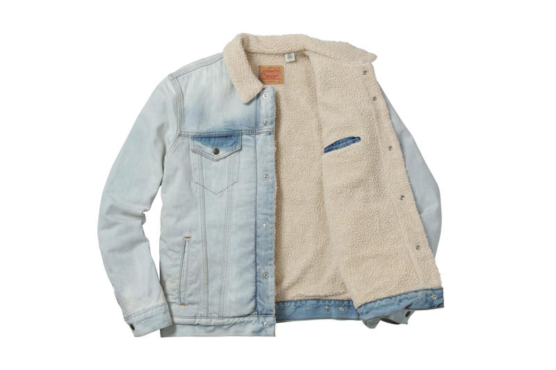 Supreme x Levi's 2016 Fall Collection bleached denim