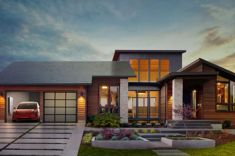 Tesla Powerwall Solar Panels home tile roof