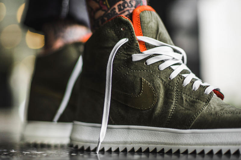 The Shoe Surgeon OutfitGrid Vintage Military Fabric Air Jordan 1