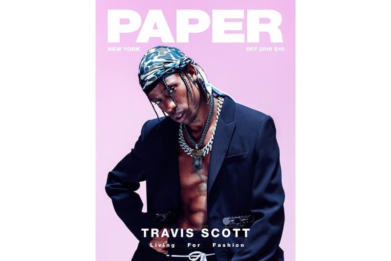 Travis Scott Paper Magazine October 2016 Cover