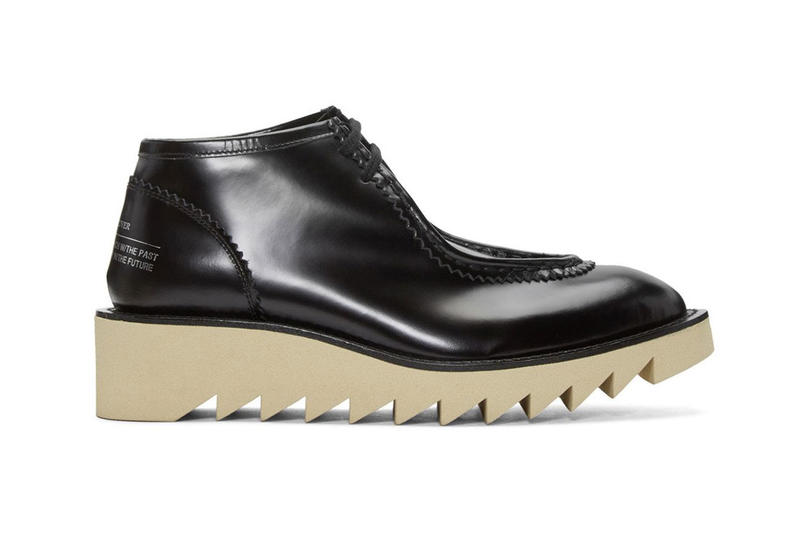 UNDERCOVER 2016 FW Mid Cut Boot black leather rubber sole
