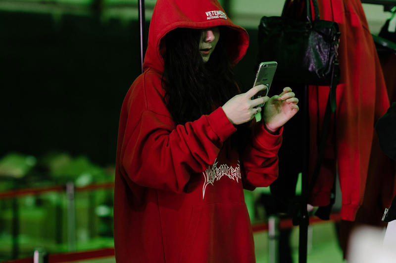 Vetements' Guram Gvasalia fake pieces seoul pop-up red hoodie