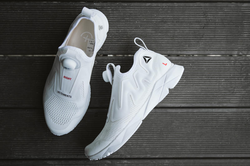 Vetements x Reebok White Instapump Pump Supreme