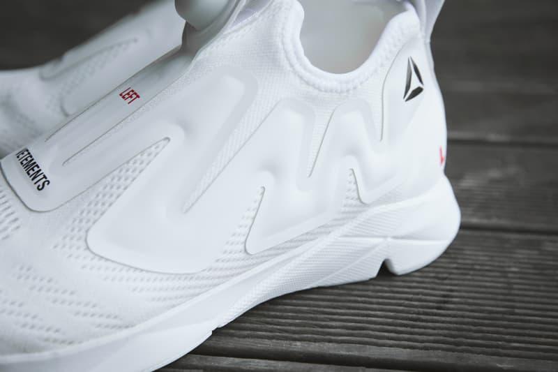 e62a71449e99 Vetements x Reebok White Pump Collaboration Sneaker