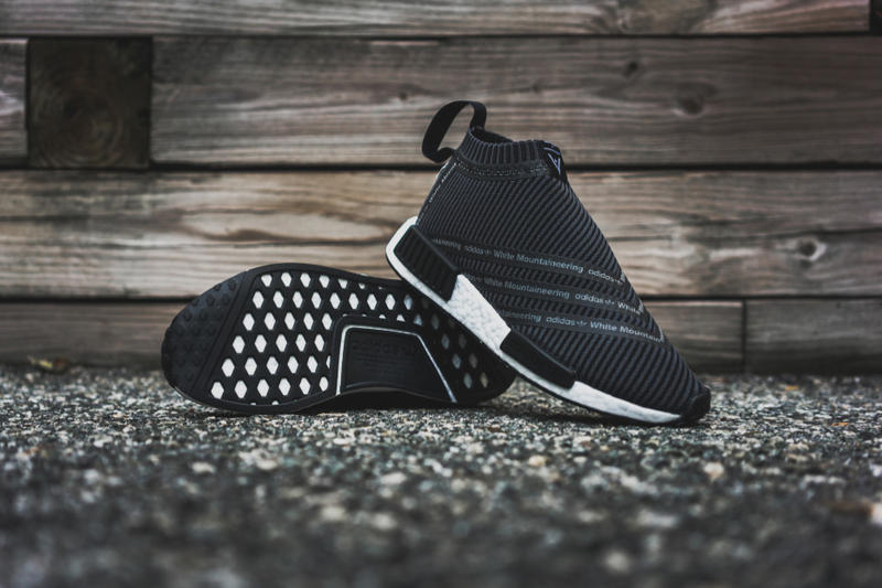 e1f5d5c6b46bb White Mountaineering x adidas NMD City Sock Black Packer Shoes sneakers