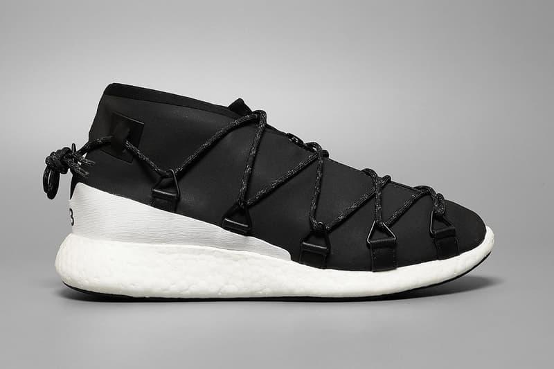 6292c742fcac Yohji Yamamoto Ties up the adidas Y-3 Cross Lace Run. Hiking meets future  footwear.