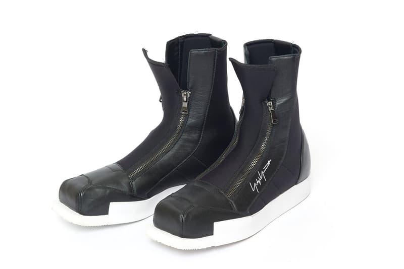 Yohji Yamamoto x adidas Ski Inspired Boots 2016 black neoprene leather zipper white midsole
