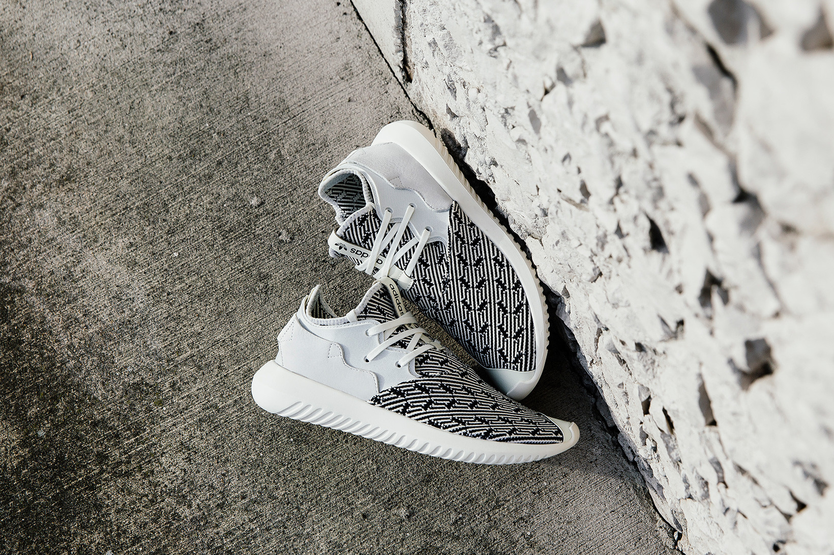 adidas Tubular Entrap Primeknit and Off-White