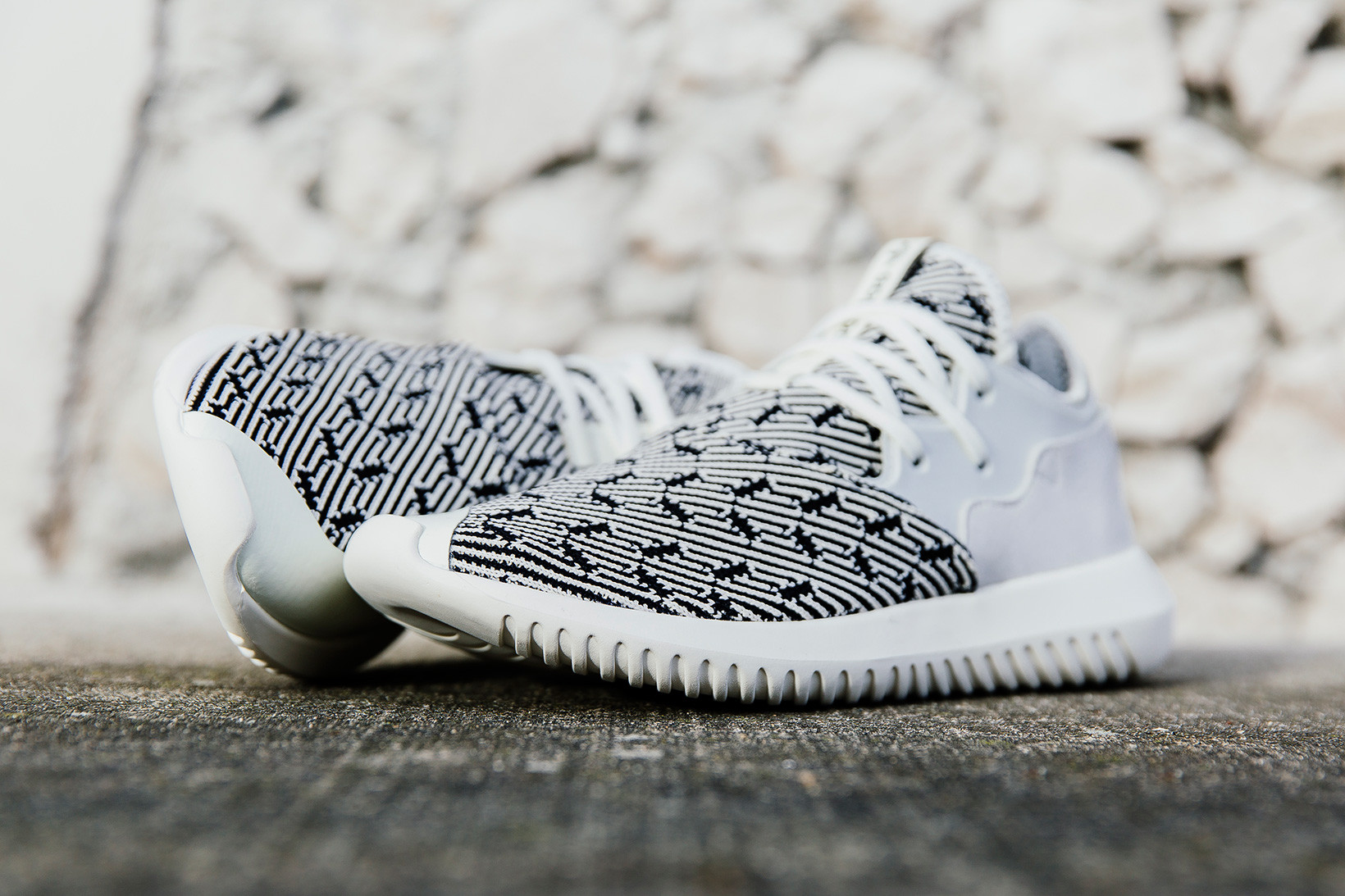 adidas Tubular Entrap Primeknit and Off-White