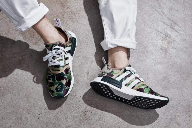 adidas Originals x BAPE 2016 Fall Winter Collection A Bathing Ape Three Stripes Japan Germany Camo Ape Head