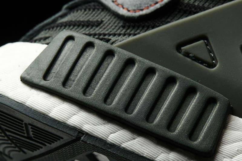 adidas Originals NMD XR1 Utility Ivy BOOST midsole Cage Leather heel strap Three Stripes