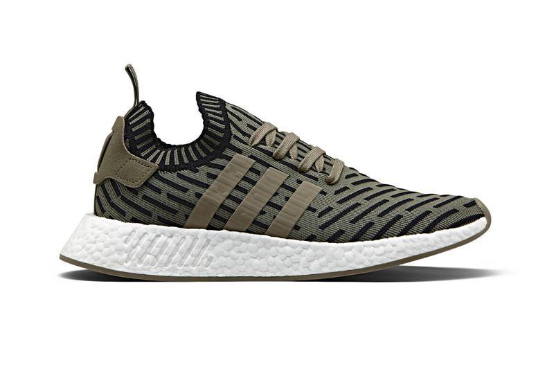adidas Originals NMD_R2 Olive green white boost sole