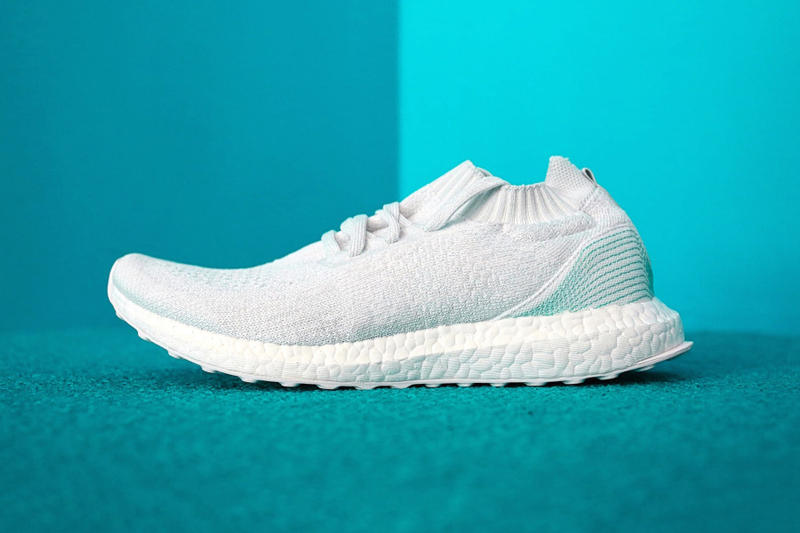 ded9e1ee6e5 adidas x Parley Ocean UltraBOOST Uncaged A Closer Look Three Stripes  Sneakers White BOOST midsole Teal