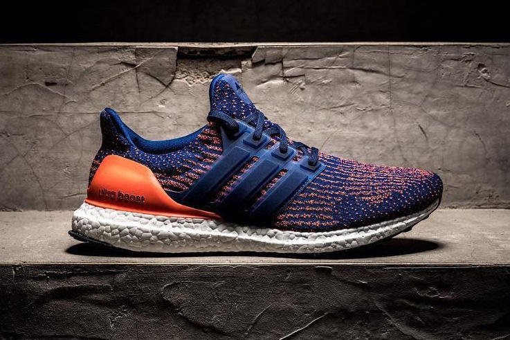 adidas UltraBOOST 3.0 Blue Orange Colorway New York Knicks Three Stripes