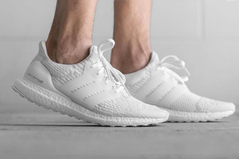 "adidas UltraBOOST 3.0 ""Triple White"" and UltraBOOST 3.0 ""Black"" Release Date Three Stripes"