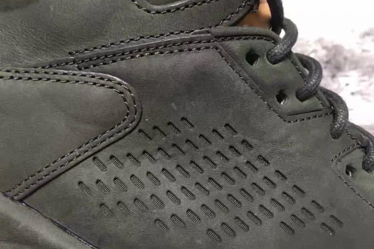 Air Jordan 5 Leather dark olive green leather tan tongue