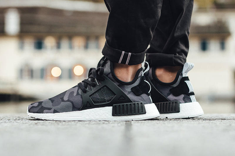 """adidas NMD XR1 """"Duck Camo"""" Pack on Foot Look 2016 Fall Winter Sneakers Green Black Pink Blue White"""