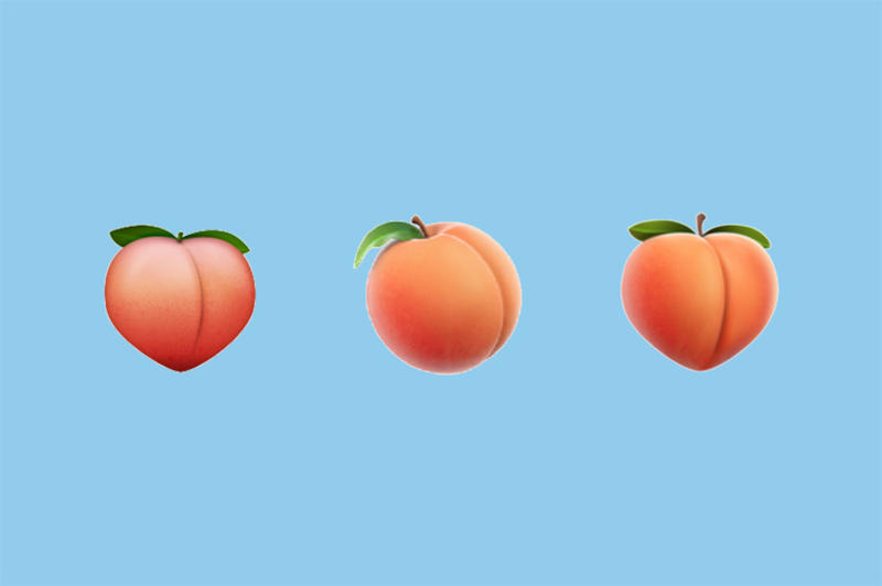 Apple iOS PEach Butt Emoji