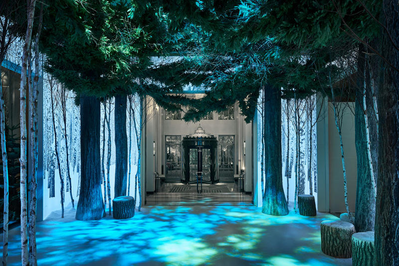 Apple Jony Ive Marc Newson Christmas Installation Claridge's