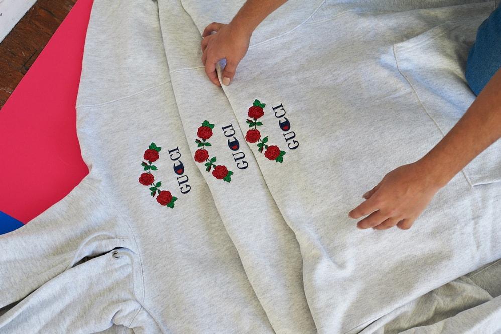 3768148f0 Ava Nirui Releases a Gucci x Champion Bootleg Hoodie | HYPEBEAST