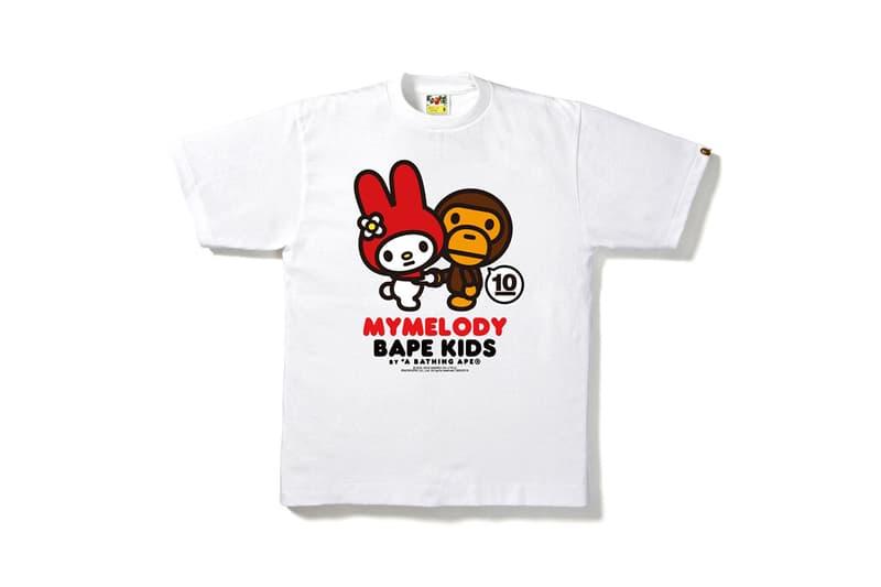 Hello Kitty x My Melody x BAPE KIDS 10th Anniversary