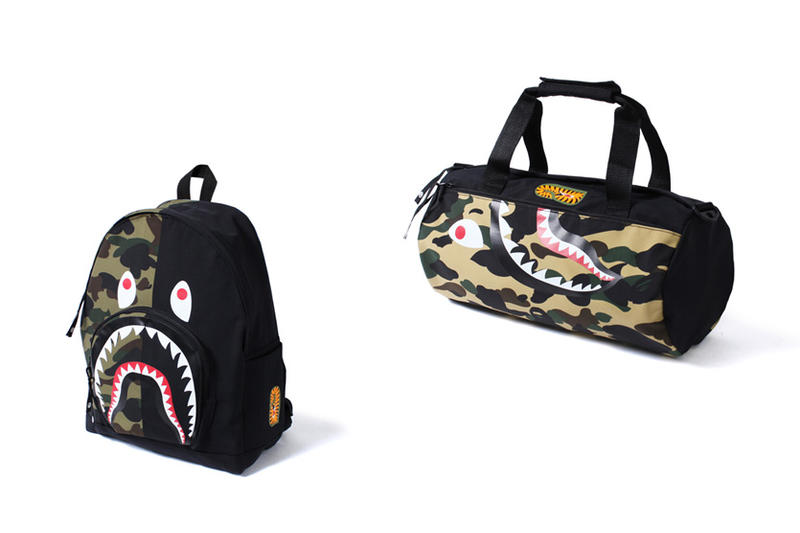 BAPE 1st Camo Shark Day Pack & Sports Bag 2016 Fall Winter Gym bag A Bathing Ape NIGO Camoflage Japan