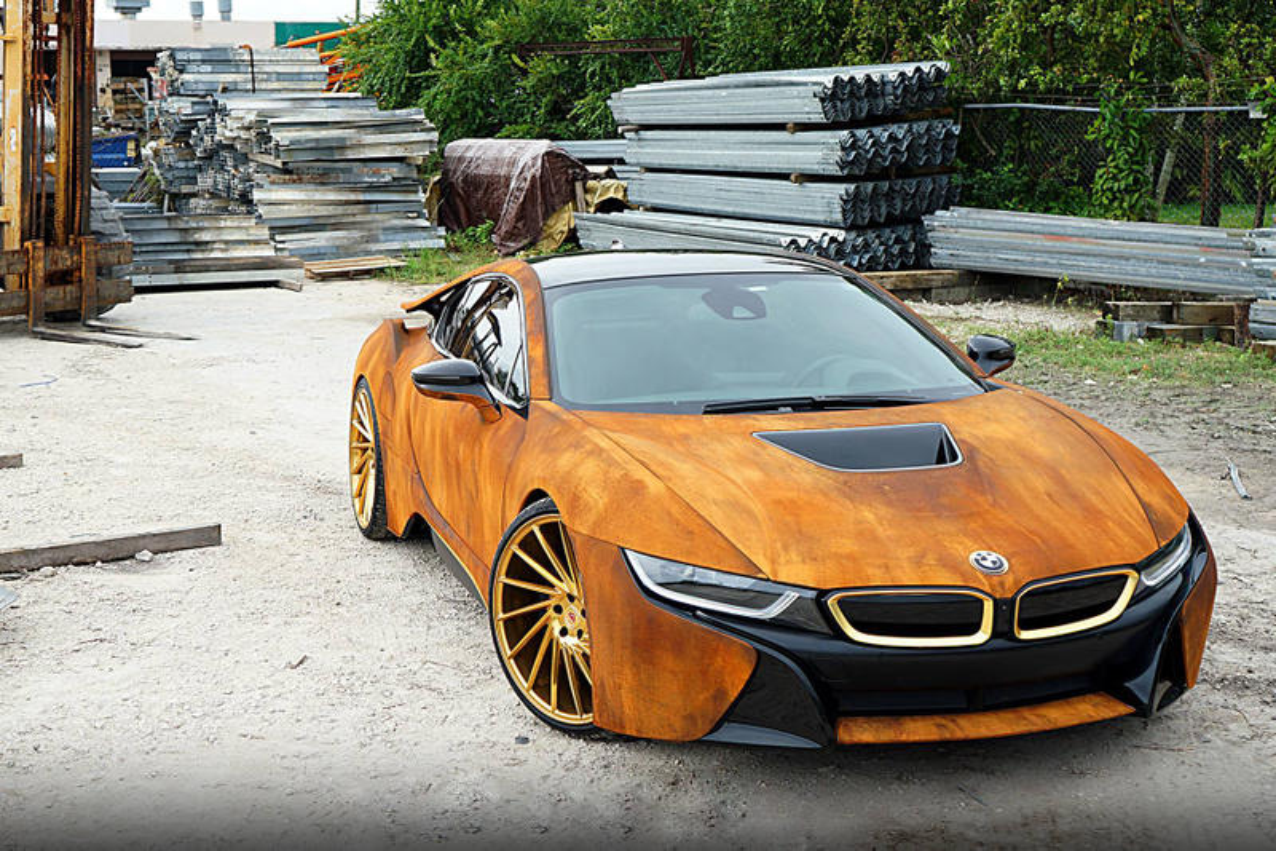 Bmw I8 Rust Wrap Custom Car Hypebeast